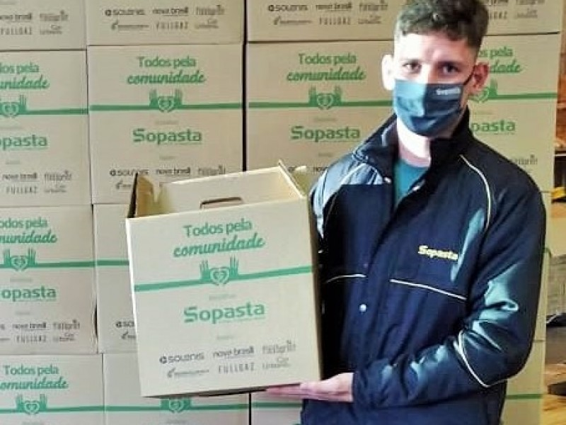 Sopasta realiza ação solidária de combate ao coronavírus